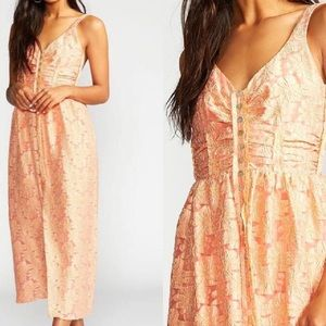 Free People Fresh as a Daisy Vintage Coral Dress